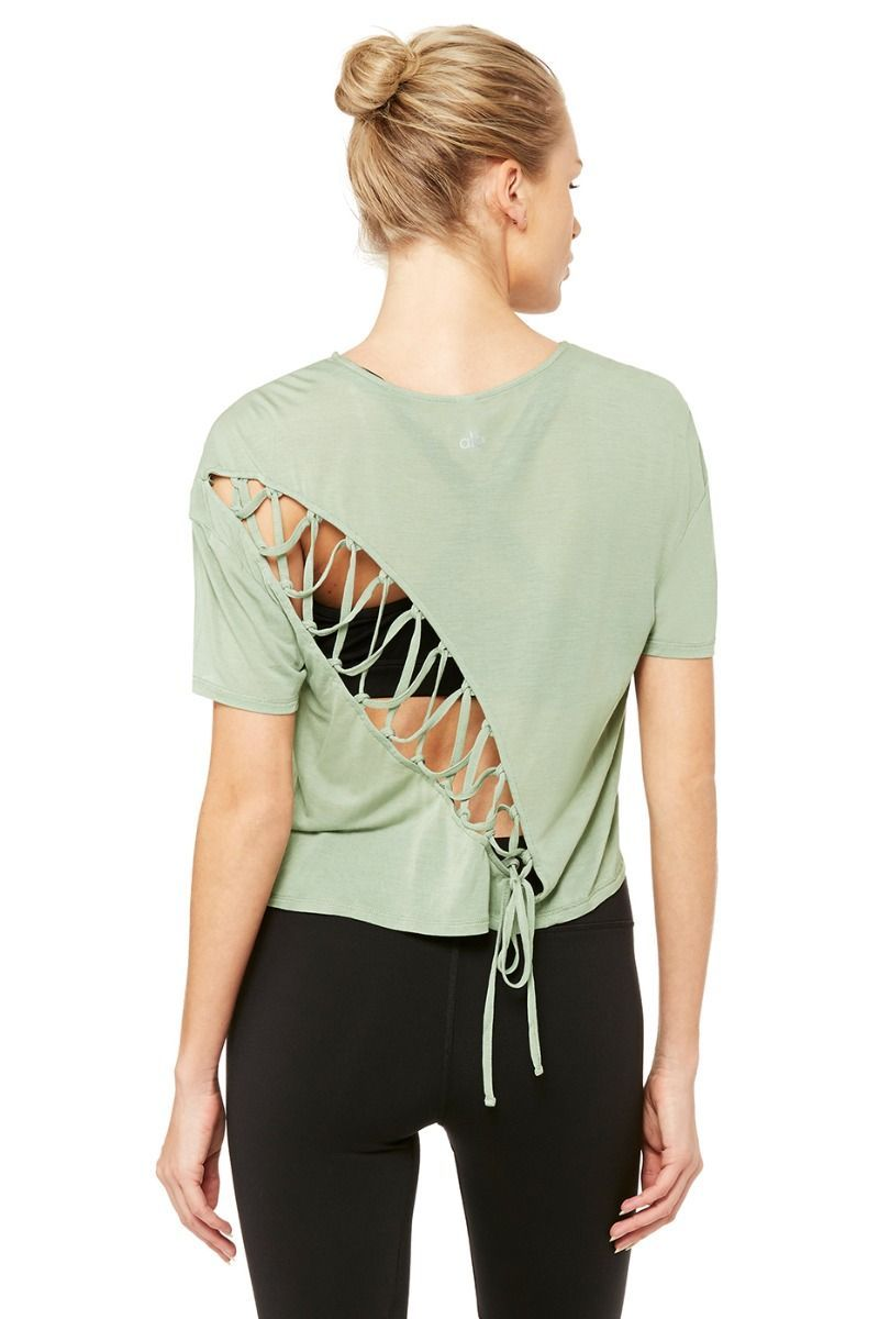 b110529aaf89f1 <p>Even better from the back, the Entwine Short Sleeve Top is light and  slinky with dropped armholes. Finished with on-trend cutout lace detail in  the back.