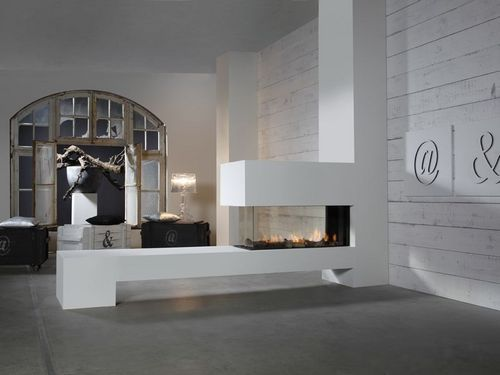 Contemporary 3 Sided Fireplace Gas Closed Hearth Aspect Premium