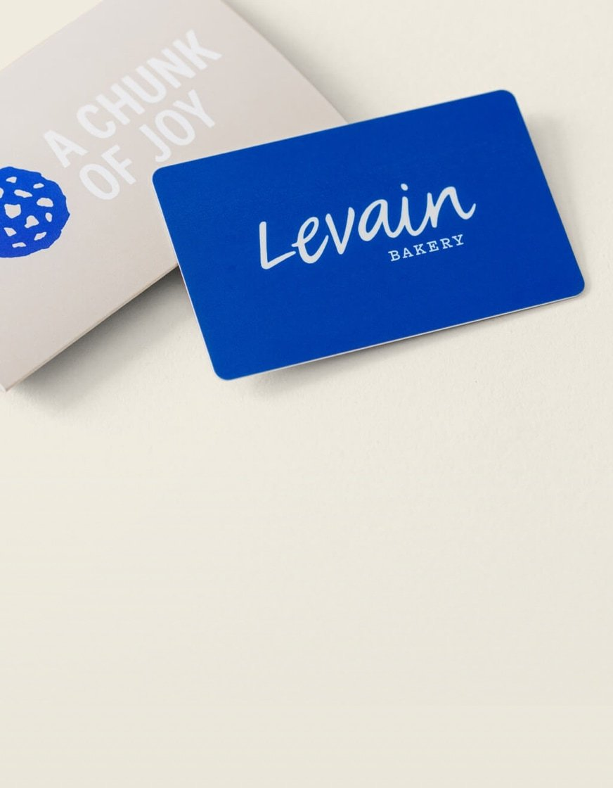 In Store Gift Card In 2020 Chocolate Chip Gifts Levain Levain Bakery