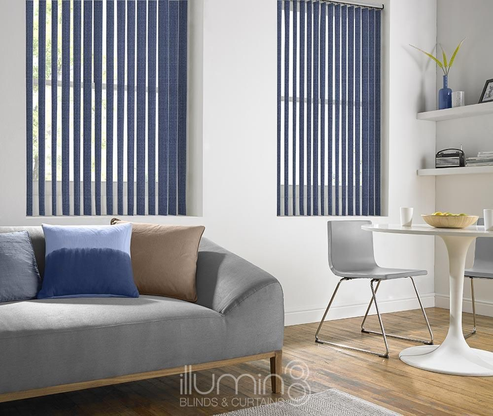 These Blue Essen Denim Vertical Vertical Blinds Are Available In