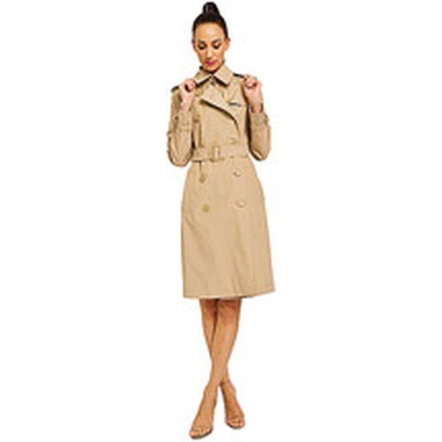Spring Fashion Trend - Trench Coats: Norma Kamali - Women's Double-Breasted Trench Coat