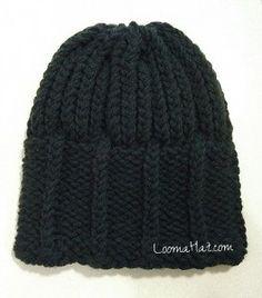1d8dd5ad4 Mens Knit Hat - The Parthenon - FREE Loom Knit Hat Pattern ...