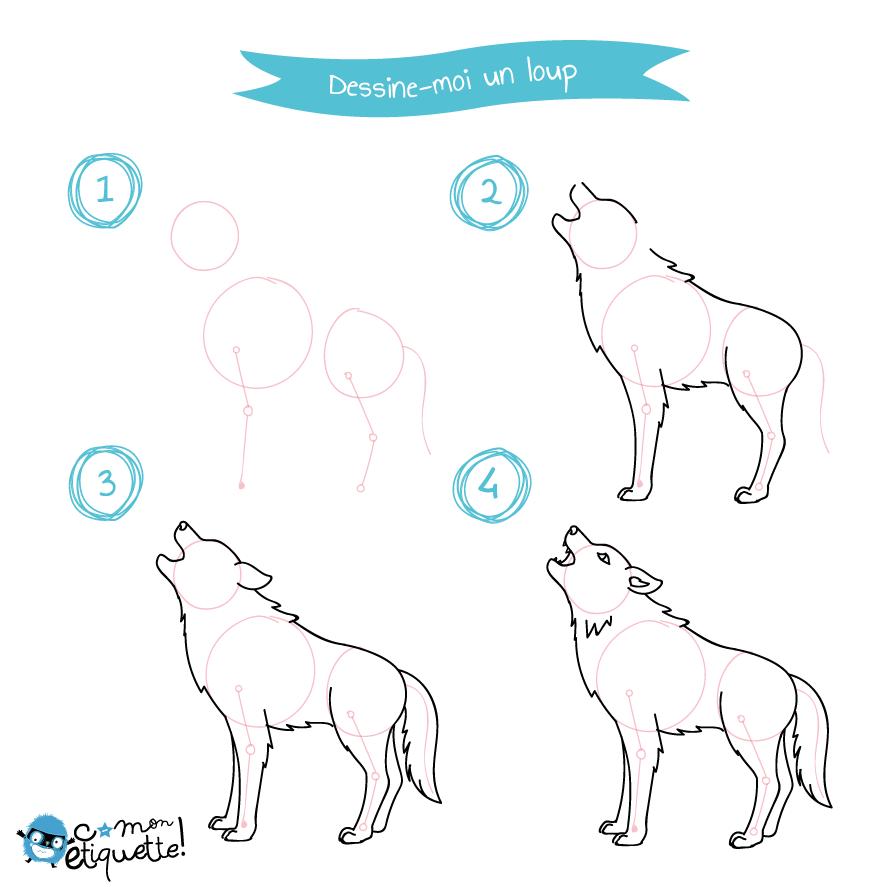 Les Animaux De La Montagne Dessin Loup Facile Comment Dessiner