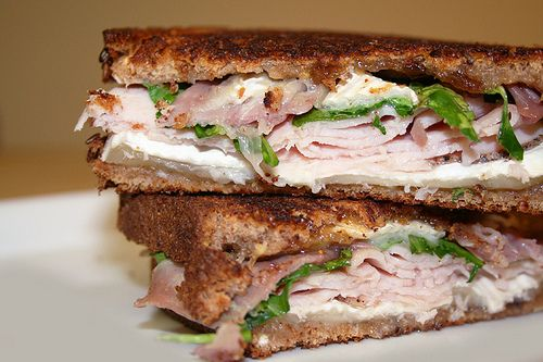 Grilled Turkey with Brie and Fig Jam