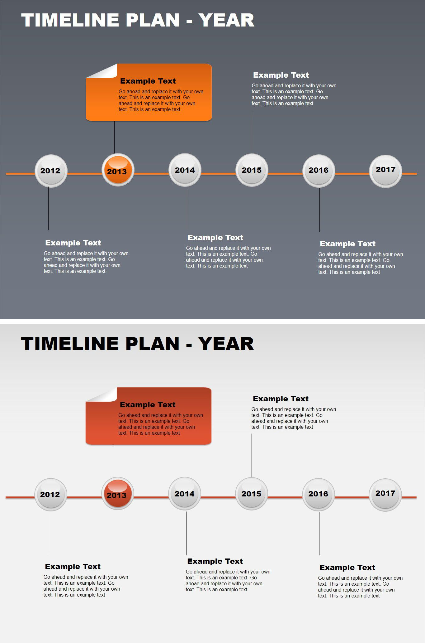 Timeline Plan Year Free Powerpoint Charts Free Charts