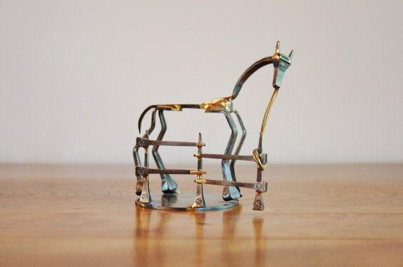 Horseshoe Nail Art Horse By Dale Warren Horse Lover Gift Metal