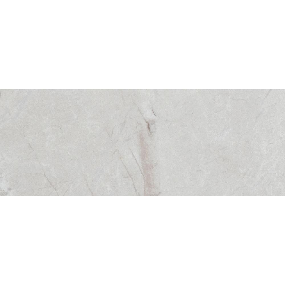 ELIANE Delray White 3 in. x 8 in. Ceramic Trim Wall Tile-8026979 #whitemarbleflooring