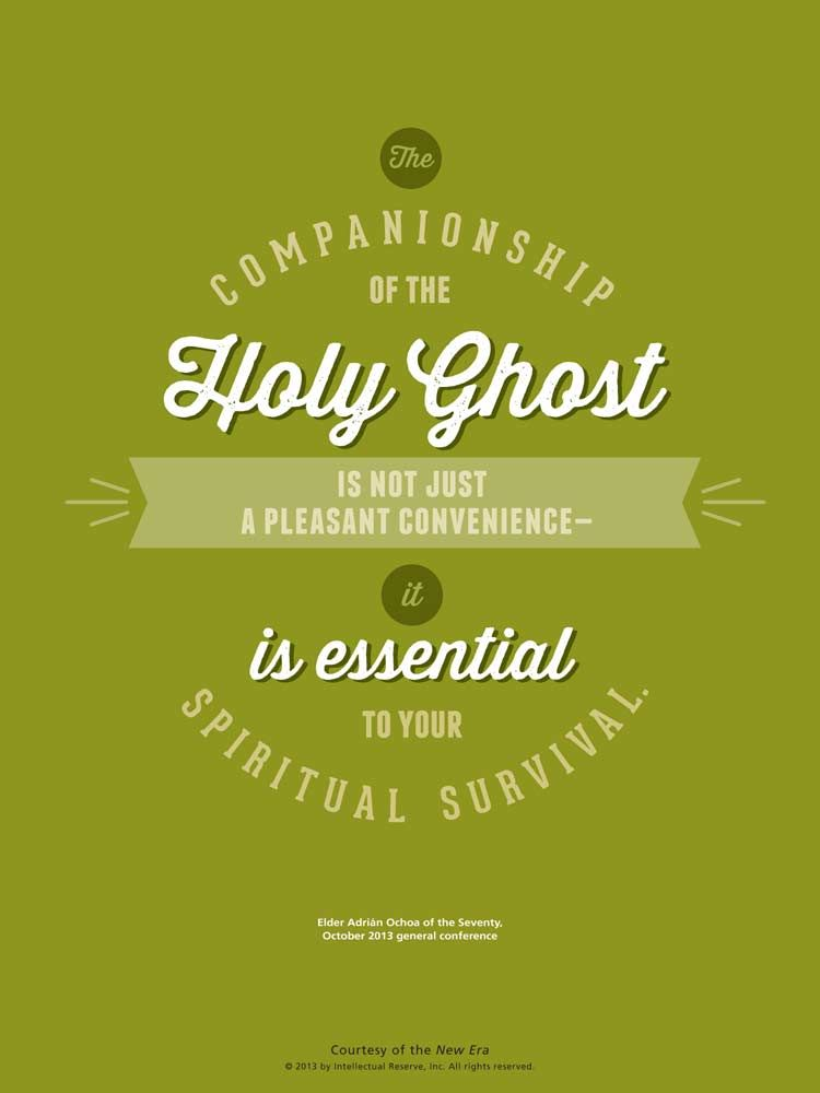 LDS Quote Elder Adrián Ochoa Reminds Us Of The Importance Of Having Awesome Quotes About The Holy Spirit
