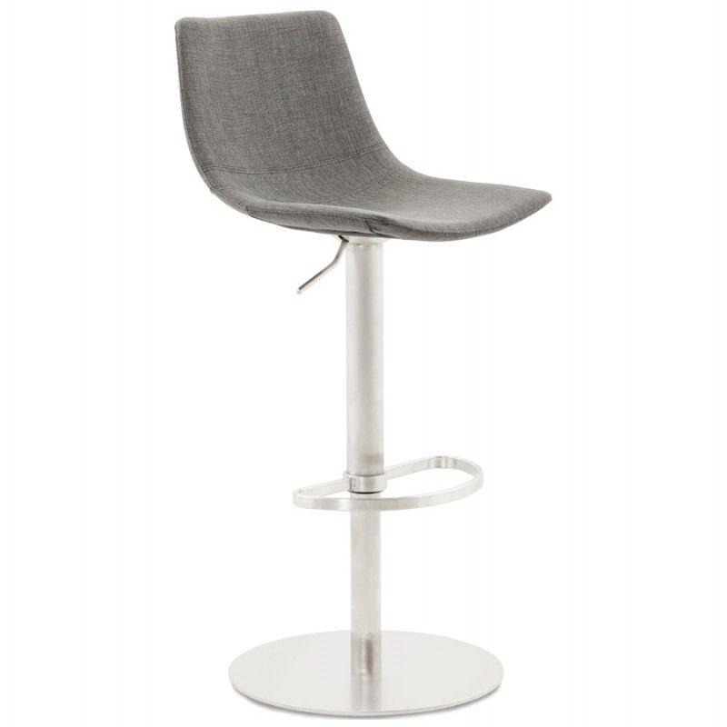 a0370829d2be82 Une assise confortable et un design moderne pour ce Tabouret de bar design  BOLOGNE en textile