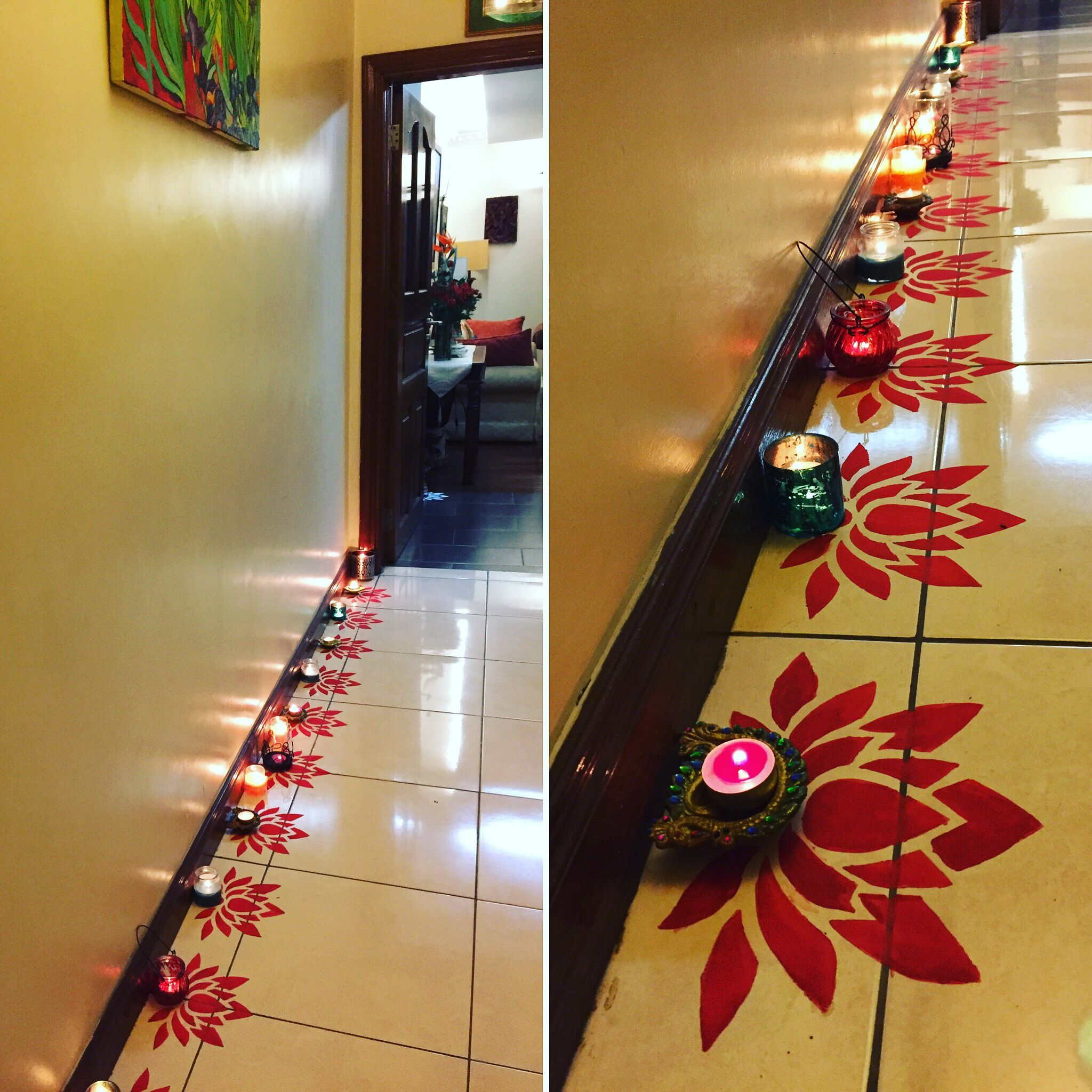 Classroom Decoration Ideas On Diwali ~ Diy diwali rangoli design using a paper cut out and poster