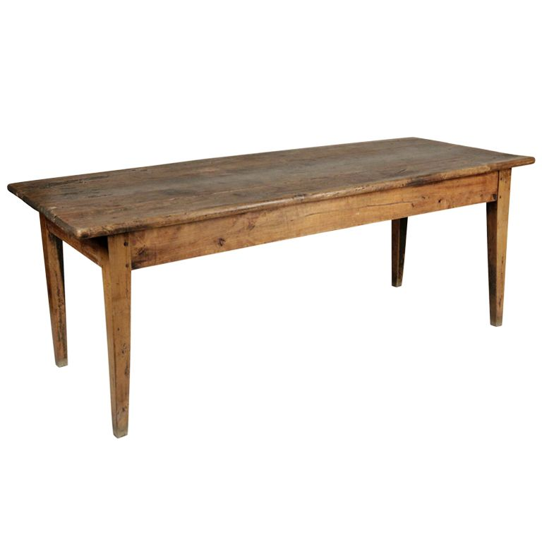 French Lindenwood Dining Farm Table 1stdibs Com French Farmhouse Dining Table Farmhouse Dining Table Farm Dining Table