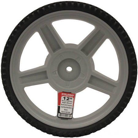 The Poulan HOP Murray 12 inch Grey Spoke Hi Wheel features a spoke design with diamond tread. This wheel replaces 1983926x617 and 401628. Color: Gray.