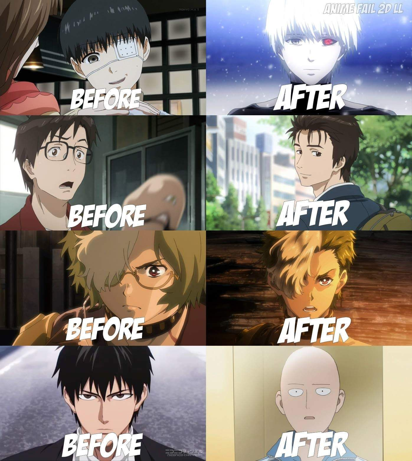FAN MADE FAN ART ANIME & MANGA Changed Hairstyle of Protagonist