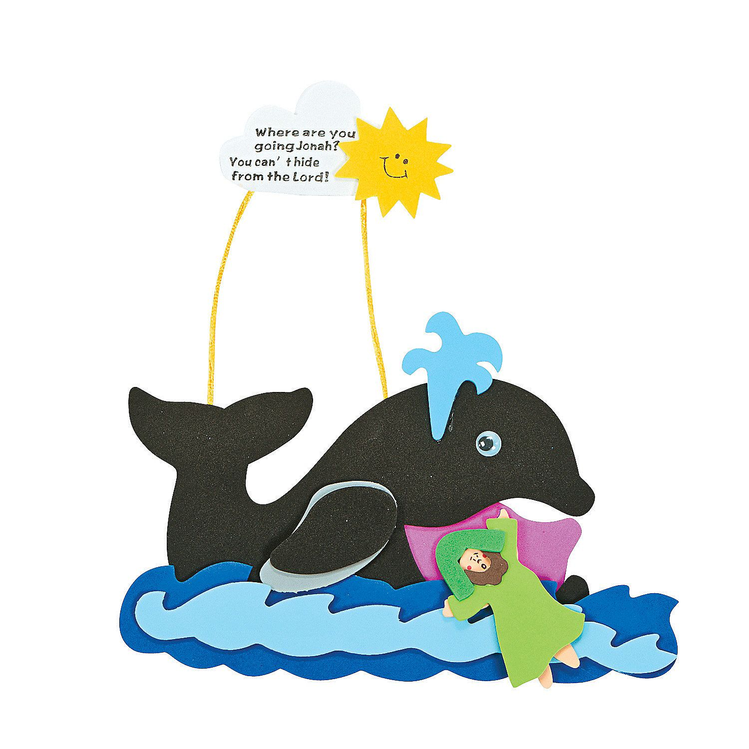 Jonah & The Whale Craft Kit - OrientalTrading.com | Vbs | Pinterest ...