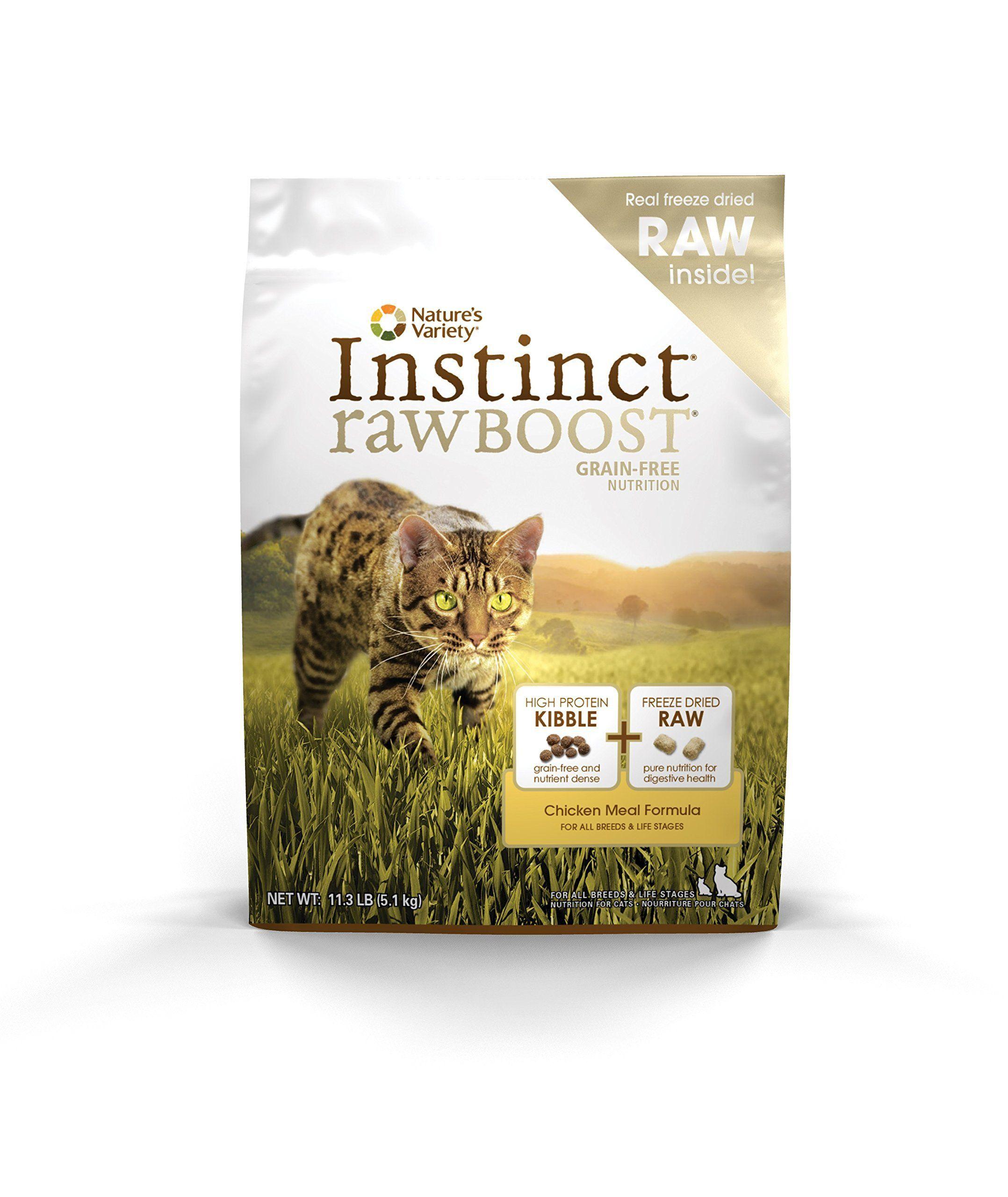 Instinct raw boost grain free recipe natural dry cat food