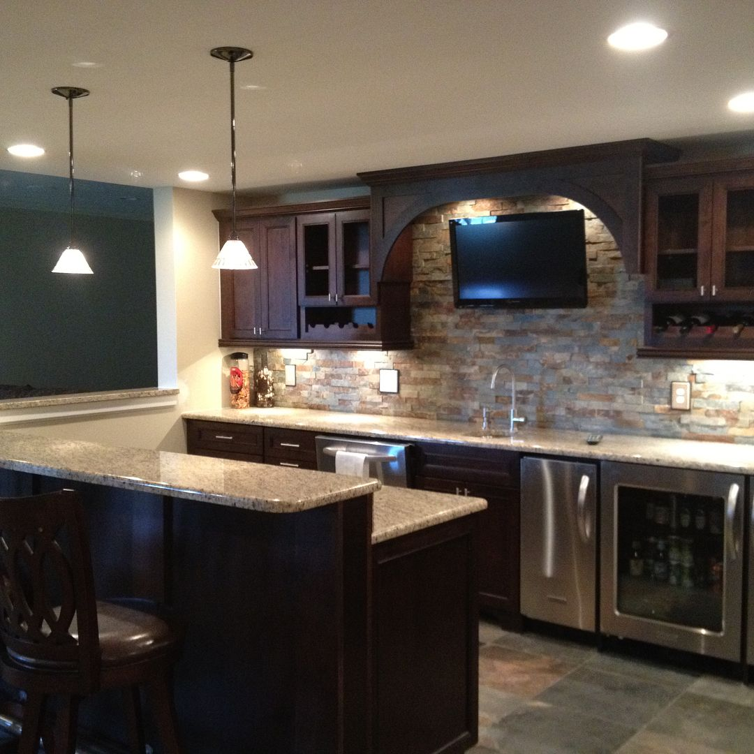 """Rustic Finished Basement Ideas: Majestic Home Solutions On Instagram: """"Finished Basement"""