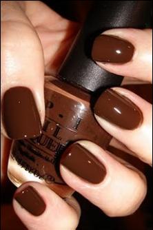 Dark Chocolate Brown Nails Karen Jacot Thrasher Is This Where You Got