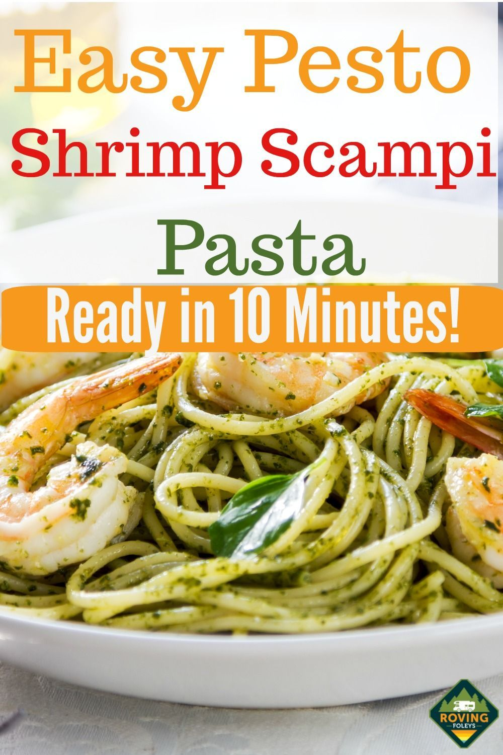 Easy 10 minute Shrimp Scampi Recipe #shrimpscampi