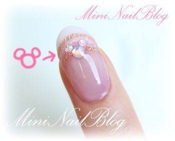 hidden mickey bling - perfect manicure