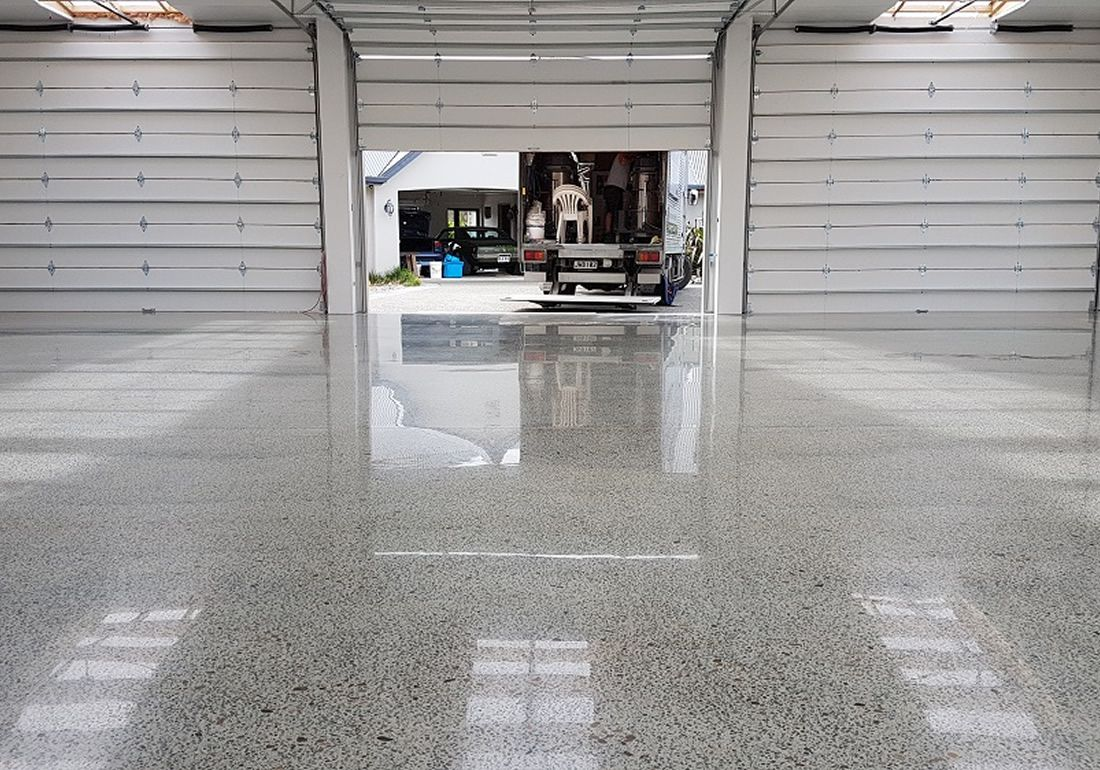 A diamond polished concrete Auckland floor is very time consuming