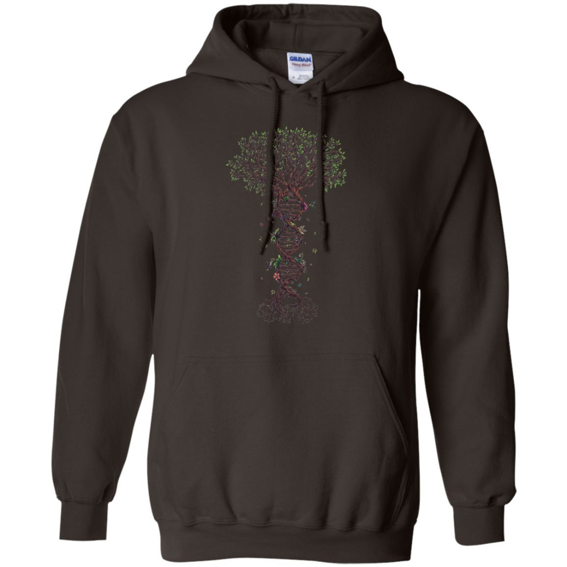 ADN tree Of Life -01 Pullover Hoodie 8 oz
