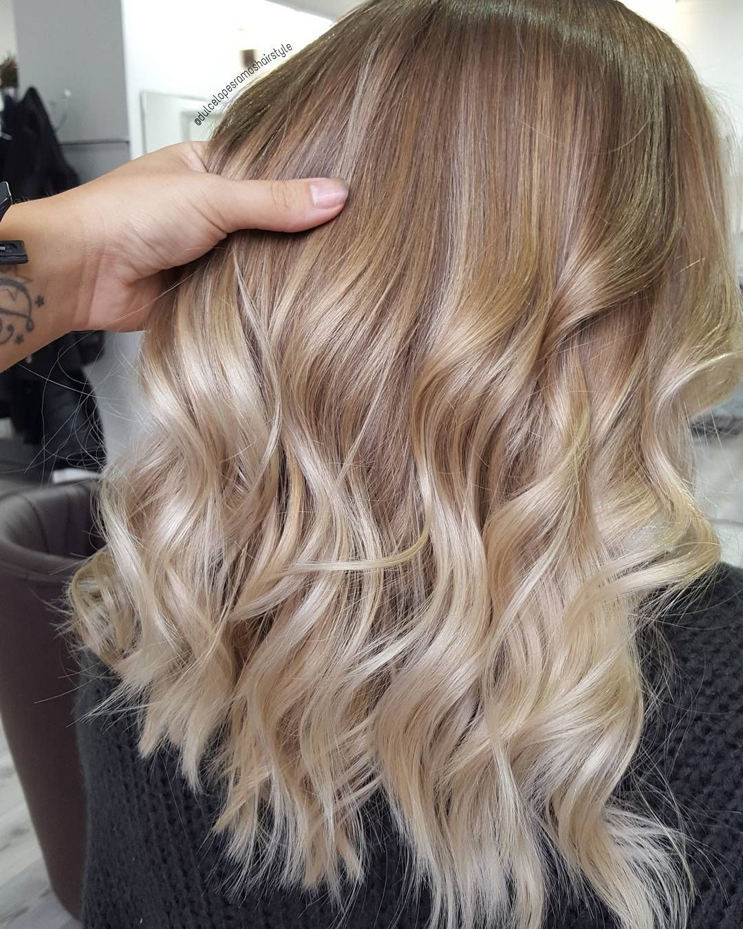 "Dulce Lopes Ramos on Instagram: ""#balayage retouch on this #beauty… used @olaplex @olaplexdeutschland @wellaprofde @babylissprousa…"""