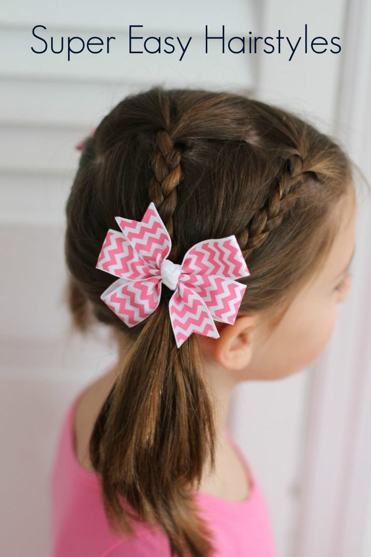 Very Easy Hair Styles for Girls: From Toddlers to School Age #easyhairstyles
