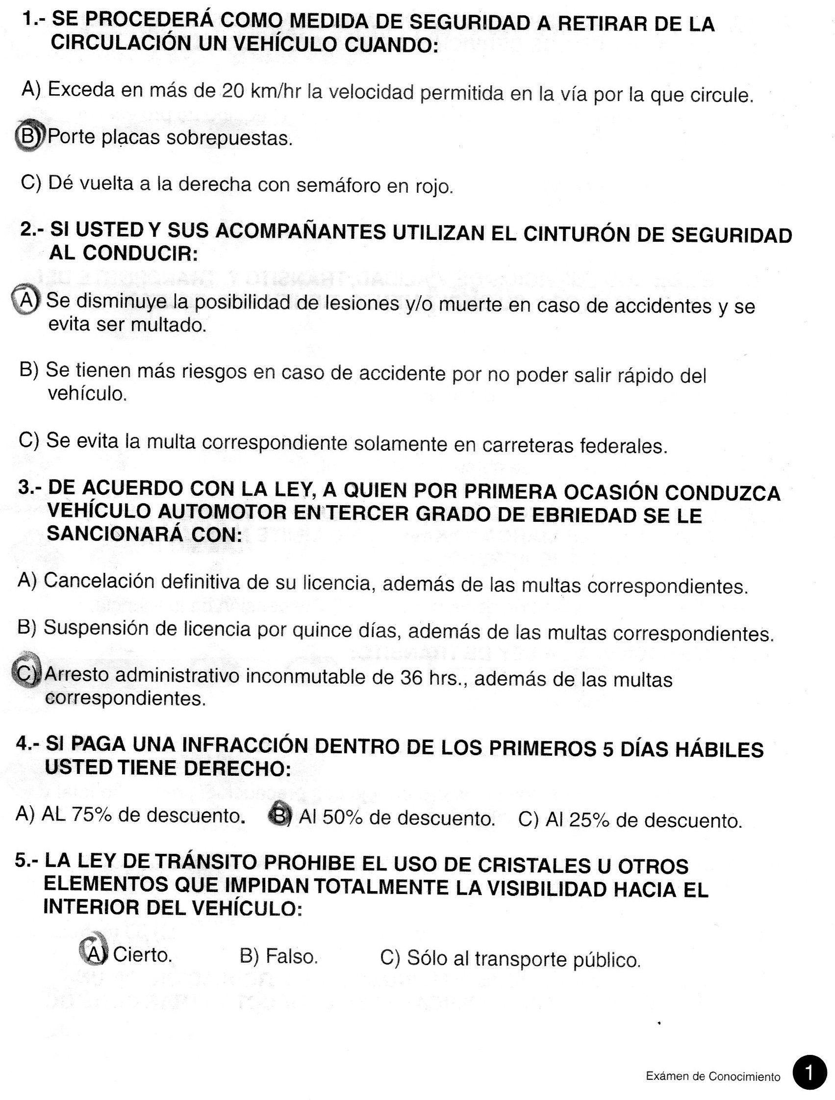 Examen de conduccion colombia