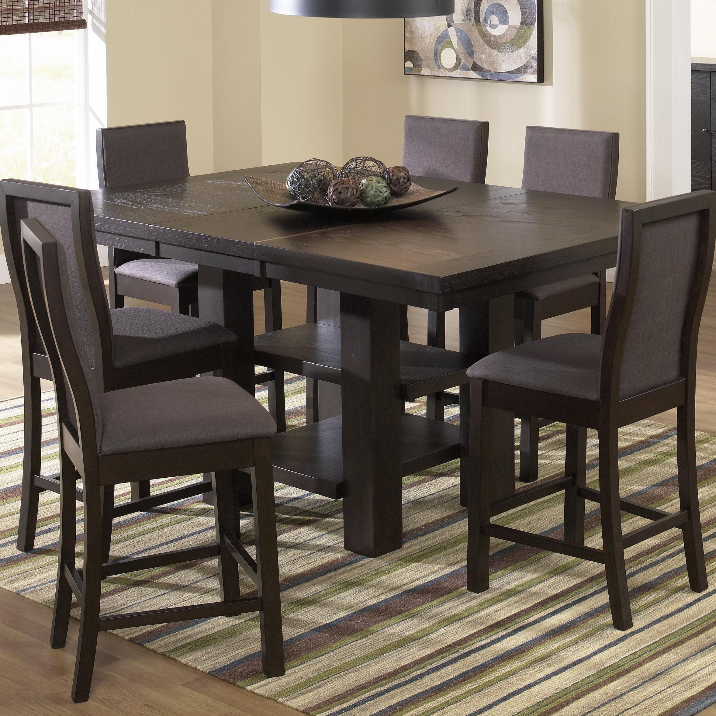 verona 7 piece pub table and stool chairscramco inc