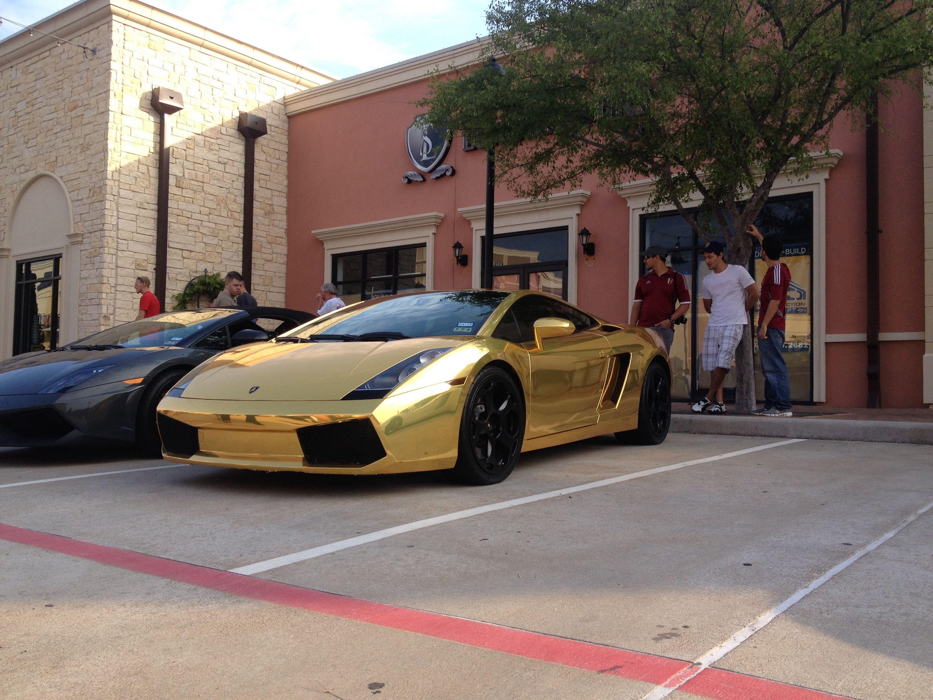 Luxury caravan with full size sports car garage from futuria - A Sexy Gold Wrapped Lamborghini Gallardo At Houston Coffee Cars Lambirghini Gallardo Gold