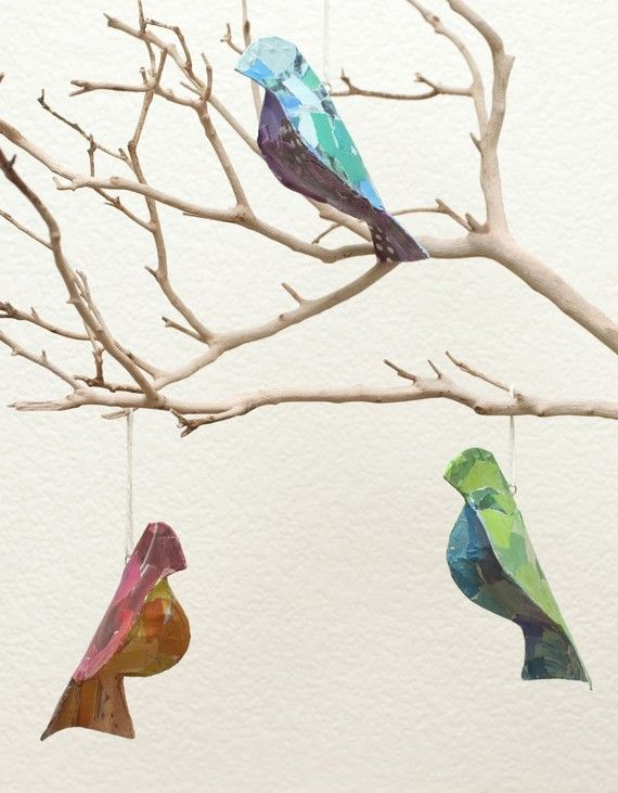 Peace Recycled Bird Ornaments by ChildrenInspire on Etsy, $15.00