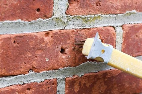 how to patch holes in a brick wall with pictures ehow projects in 2019 pared de. Black Bedroom Furniture Sets. Home Design Ideas
