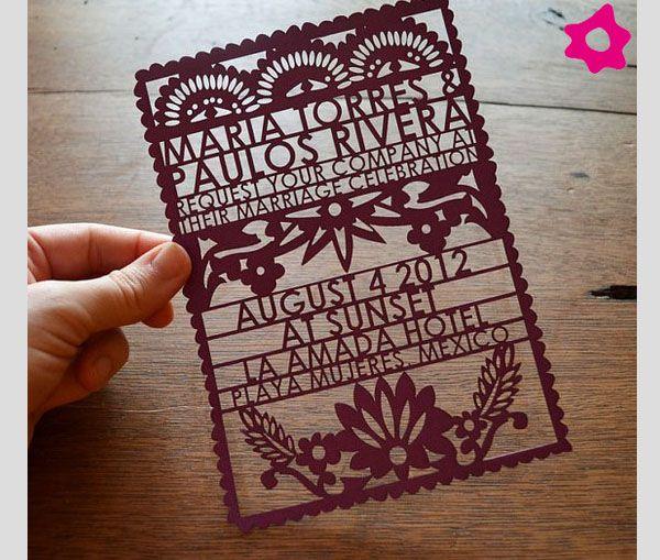 Invitaciones de boda originales Nos casamos Pinterest