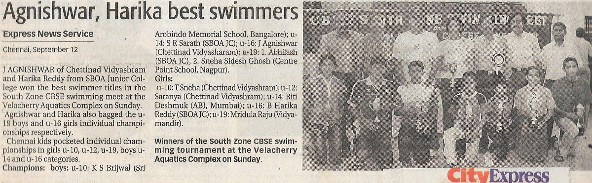 Agnishwar Jayaprakash Best Swimmer of INDIA