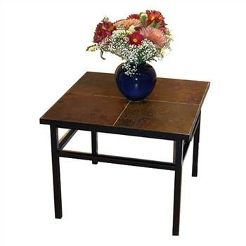 Square Slate Top End Table Glass Top End Tables End Tables