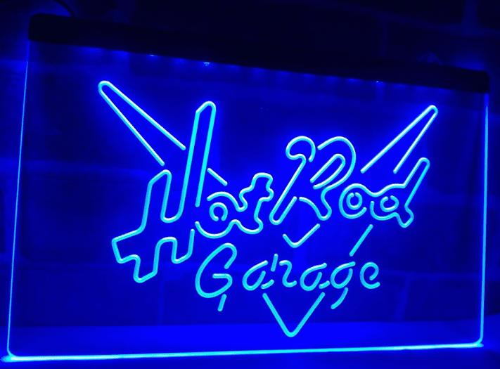 TM Hot Rod Garage Car Display Neon Light LED Sign   42nd St