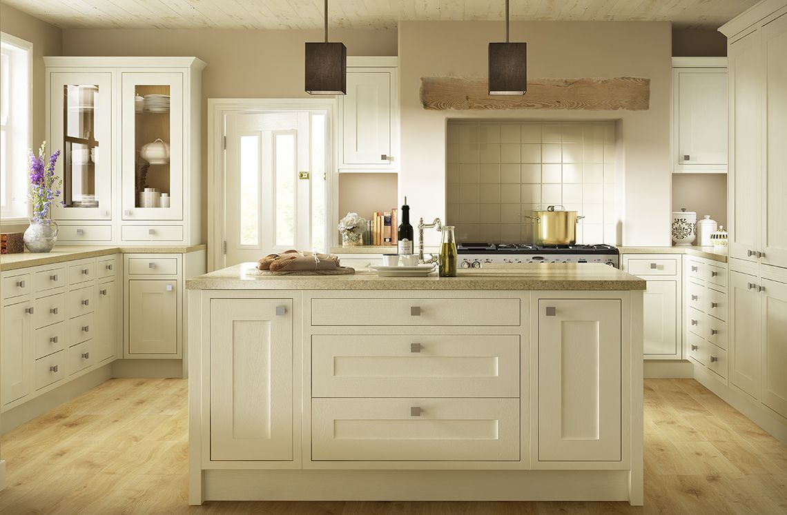 this classic look allows the beauty of the natural oak to
