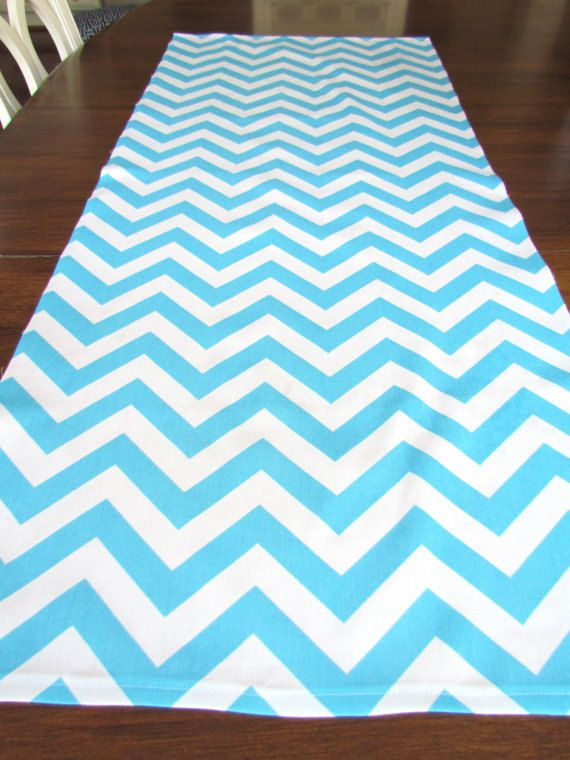 Aqua Blue Table Runner 12 X 60 Aqua Blue Chevron Table Runners