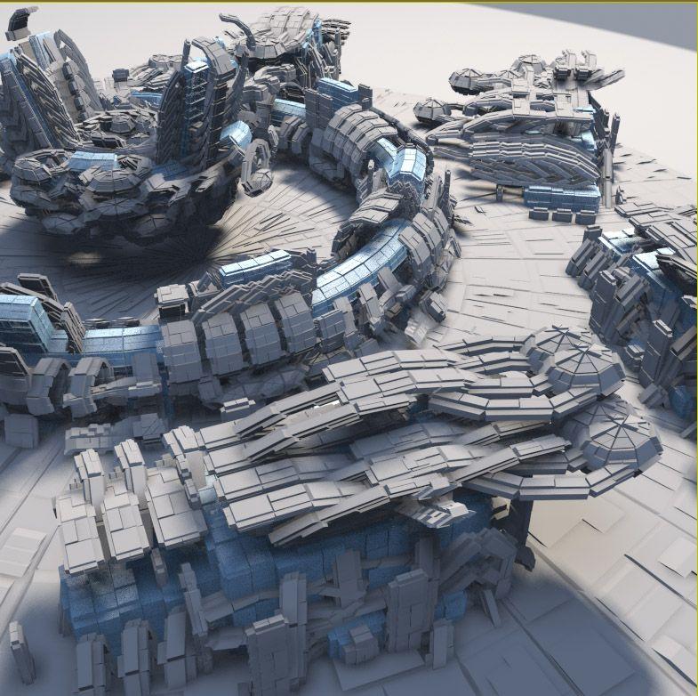 Get scifi pattern generator v 1 1 3d pinterest for Planet express building layout