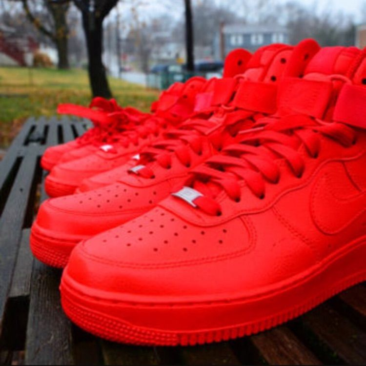 air force high tops red