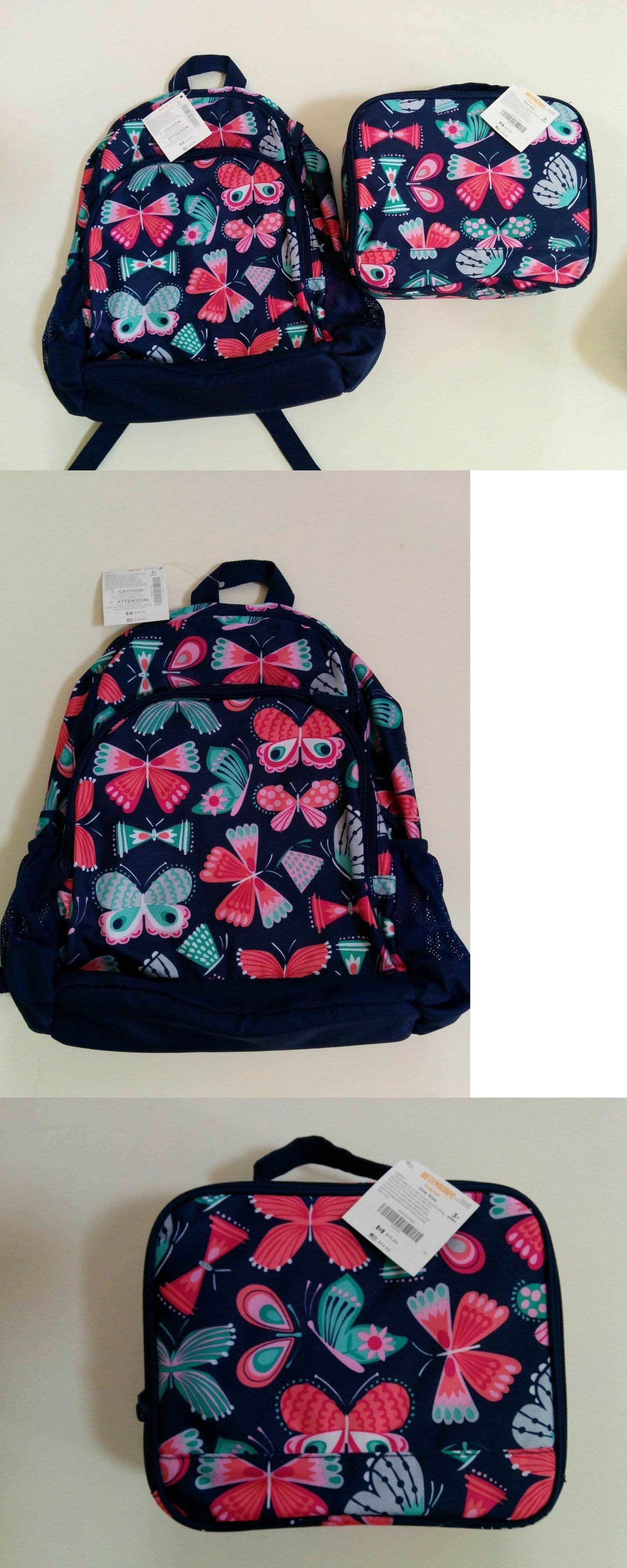 Backpacks 57917: Nwt Gymboree Girls Blue Butterfly Backpack And Lunchbox Set -> BUY IT NOW ONLY: $33.95 on eBay!