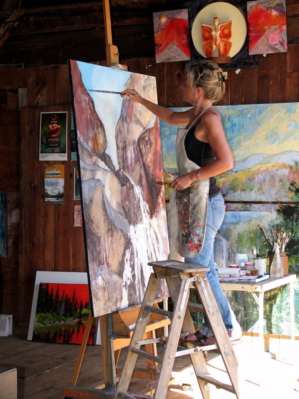 Holly Friesen Working In Studio Art - Painting