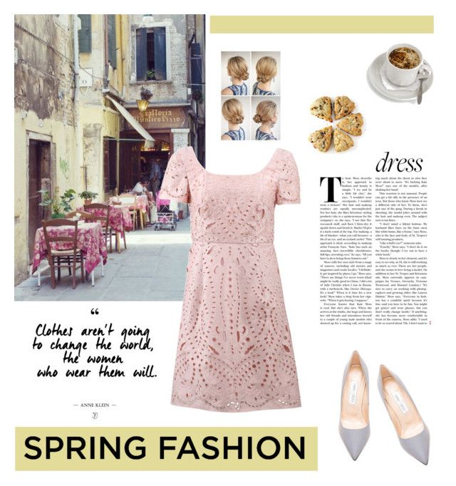 """""""Sweet Spring Dress Contest Entry"""" by fiatvoluntastua ❤ liked on Polyvore featuring Jimmy Choo and Notte by Marchesa"""