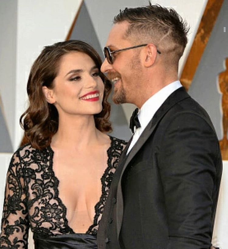 My favourite couple❤️ #tomhardy #charlotteriley #theoscars #theacademyawards