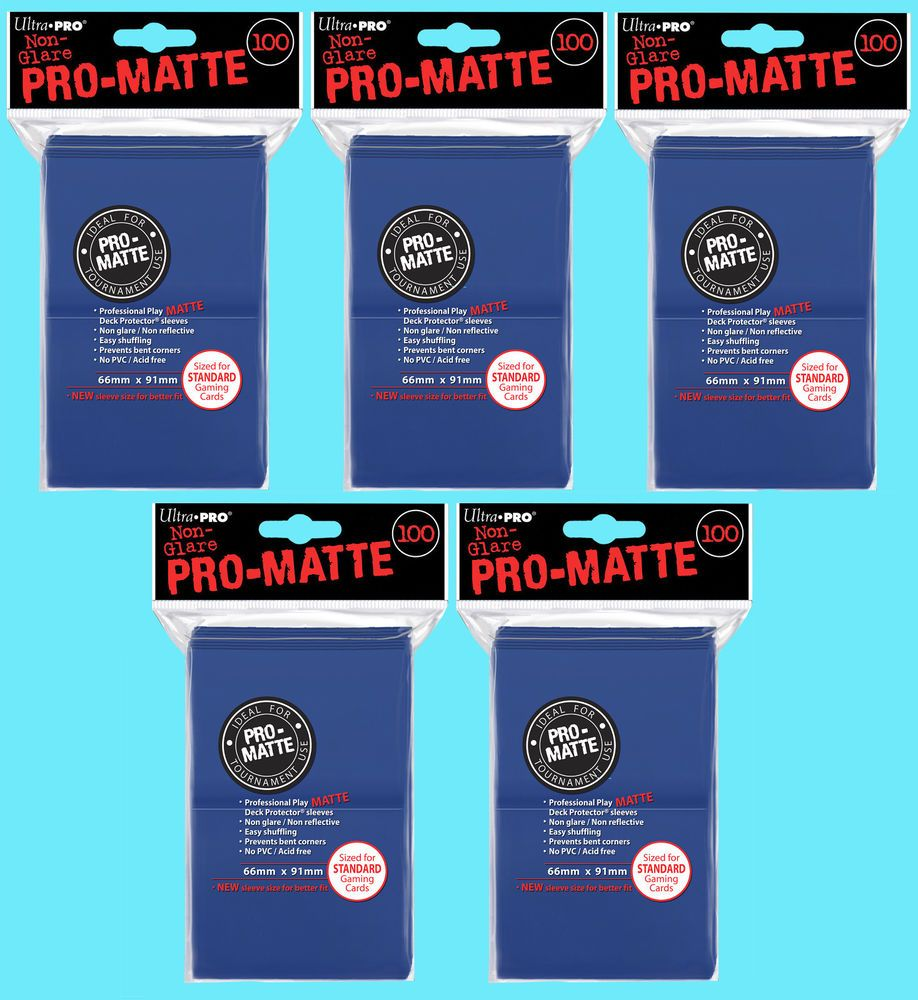 100 Ultra Pro BLUE Pro-Matte MTG CCG Pokemon Gaming Card Sleeves