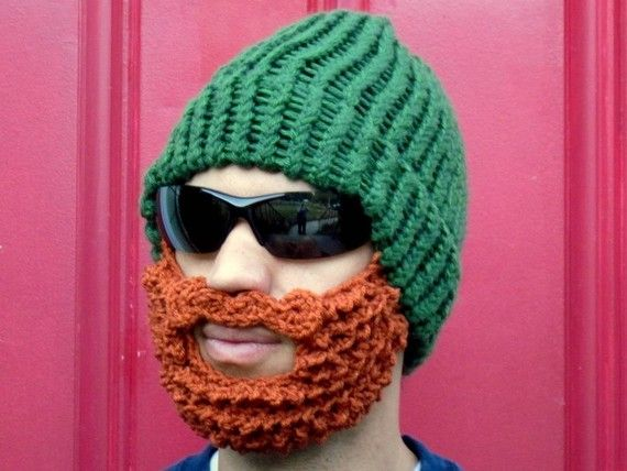 bearded lumberjack hat, green crochet beard hat, The Original Beard Beanie™ green beard hat, knit beard hat #crochetedbeards