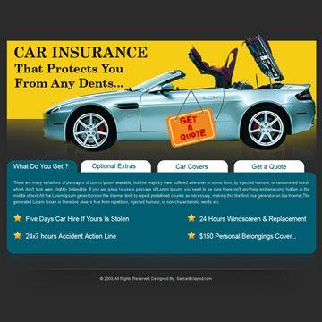 Auto Insurance Landing Page For Sale On Semanticlp Com Car