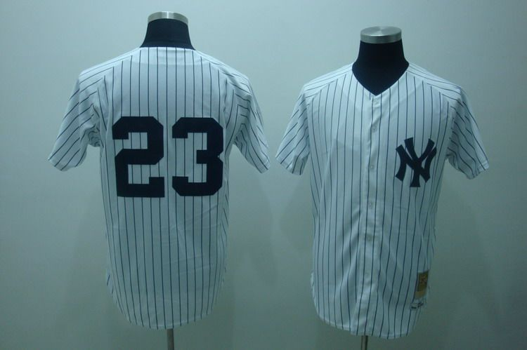 on sale e28e1 b45d4 Mitchell And Ness Yankees #23 Don Mattingly Embroidered ...