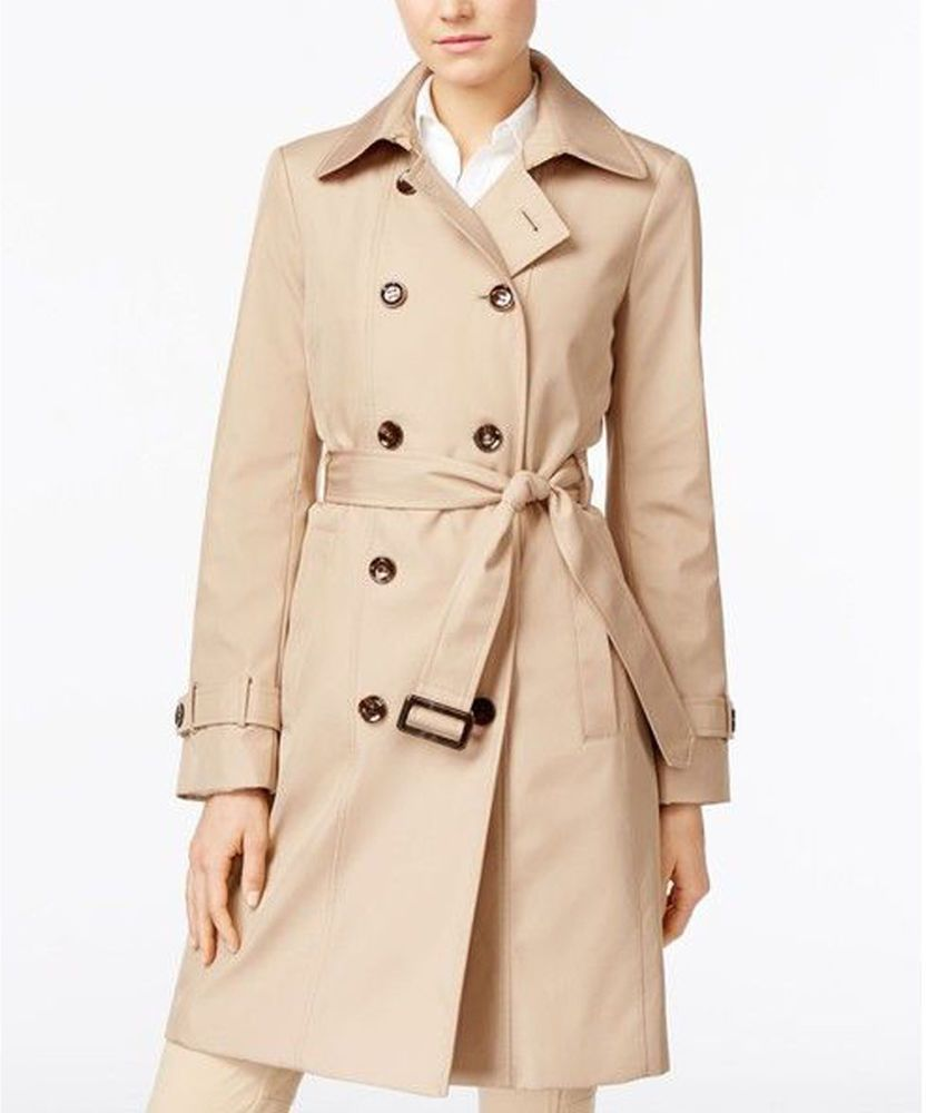 538ea68bdbc Calvin Klein Double Breasted Belted Trench Coat