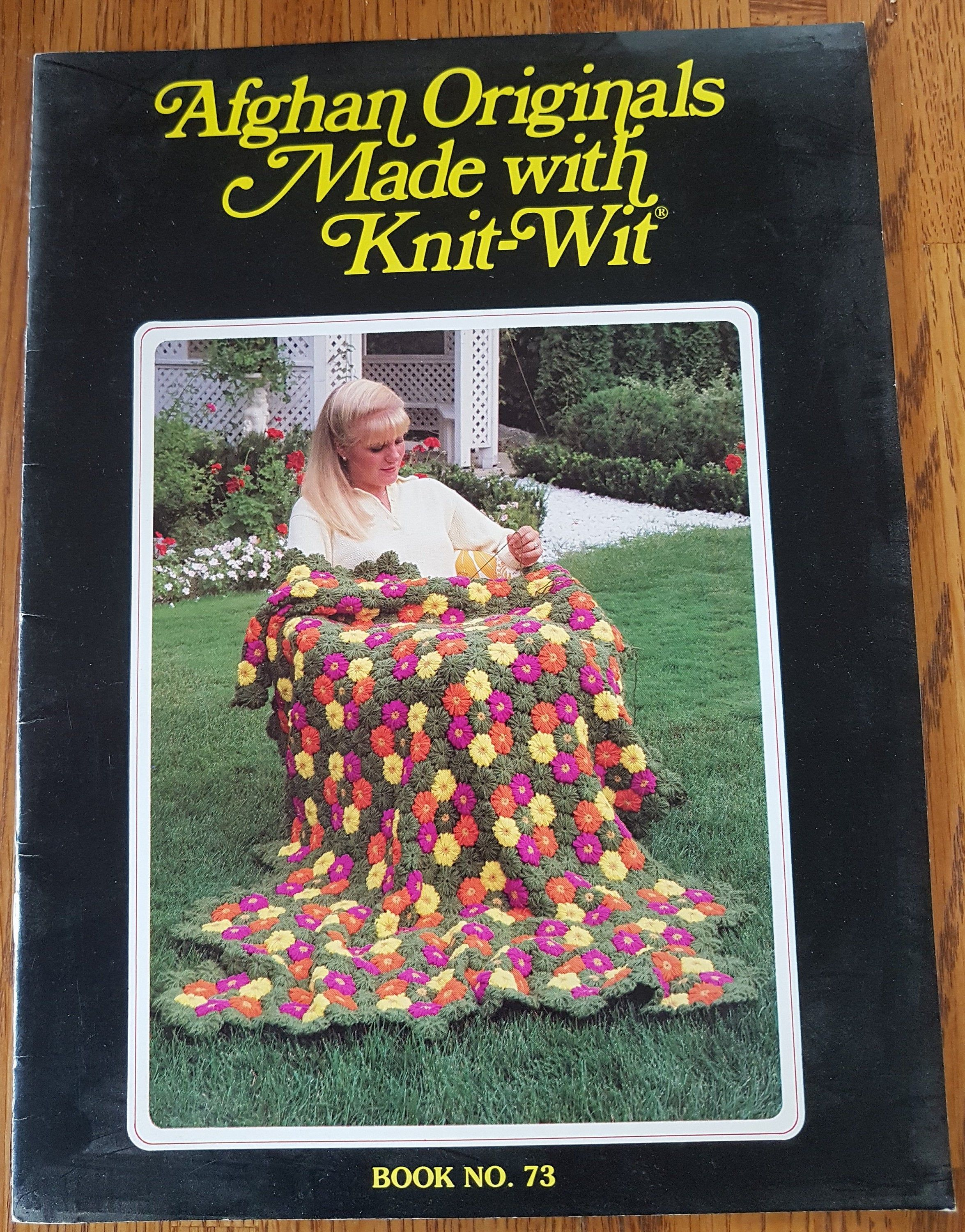 Afghan Originals Made With Knit Wit Book No 73 1983 Etsy Knitting Knitted Wit Afghan
